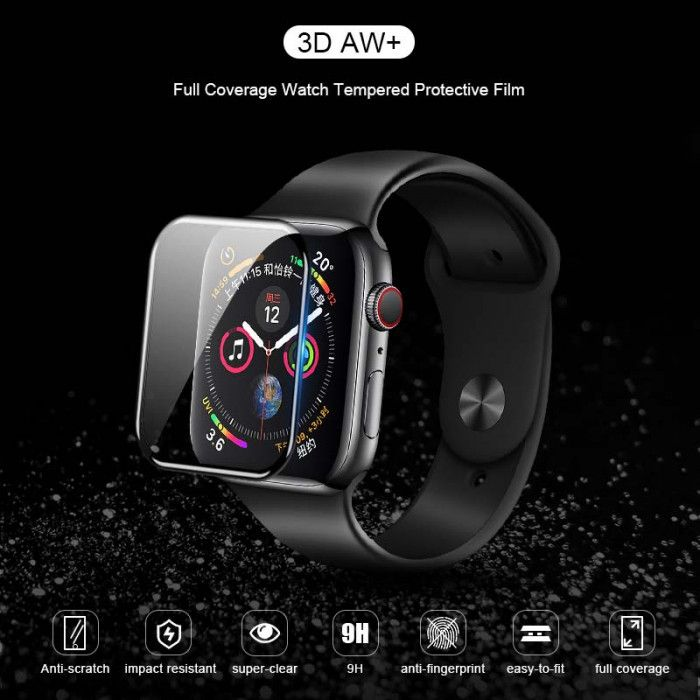 3D AW+ Full Coverage Watch Tempered Protective Film For Apple Watch Series 1/2/3/4