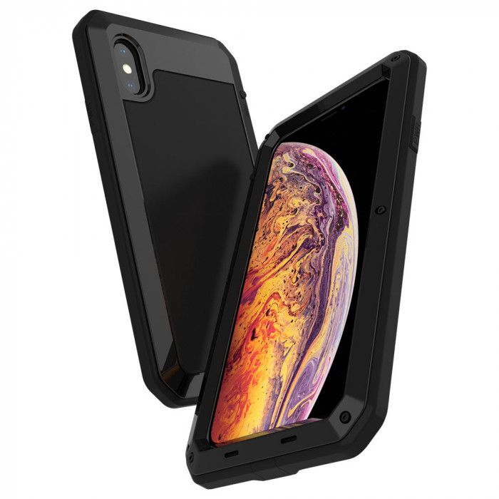 R-Just Dustproof & Shockproof Metal Powerful Protective Case For iPhone Xs Max/XR