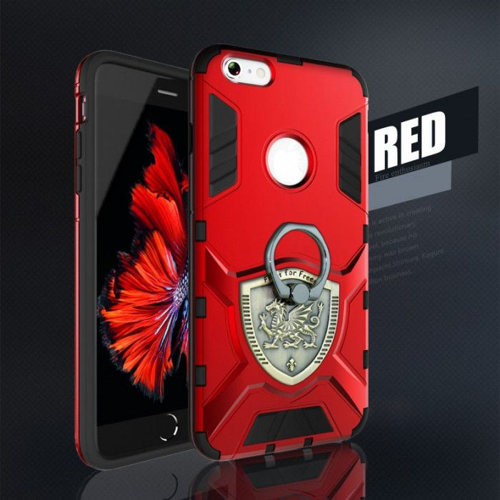 Armor Style Double Protection TPU+PC Case With Ring Holder For iPhone 6S/6
