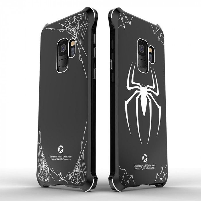 Creative Design Full Protection Metal Bumper+Acrylic Back Cover Case For Samsung GALAXY S9/S9 Plus