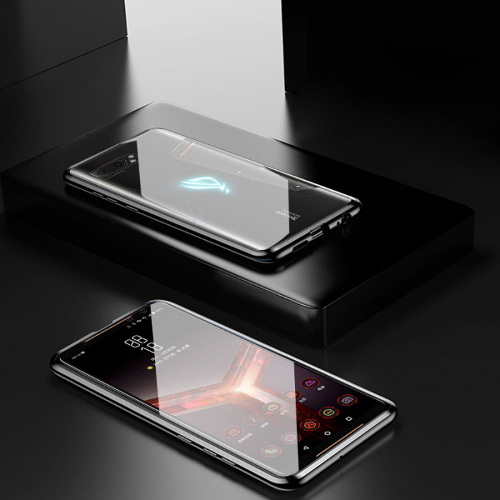 Double Sided Toughened Glass Magnetic Adsorption Metal Frame For ASUS ROG Phone 2