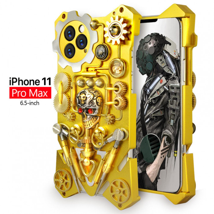 Gothic Steampunk Mechanical Gear Metal Case For iPhone 11 Pro Max/iPhone 11 Pro/iPhone 11