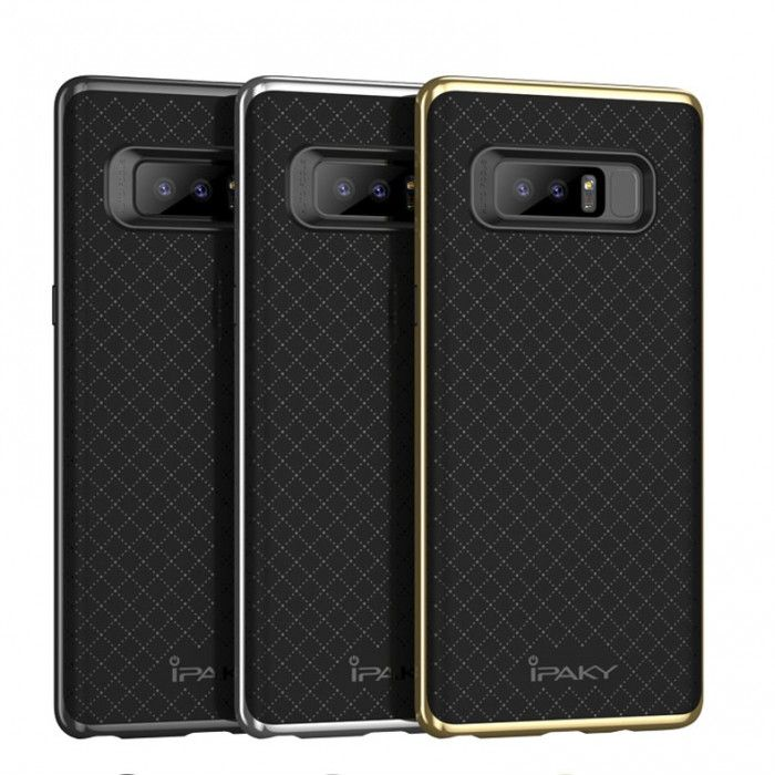 IPAKY Hybrid Case PC Frame With Silicone Protective Cover Case For Samsung Note 8