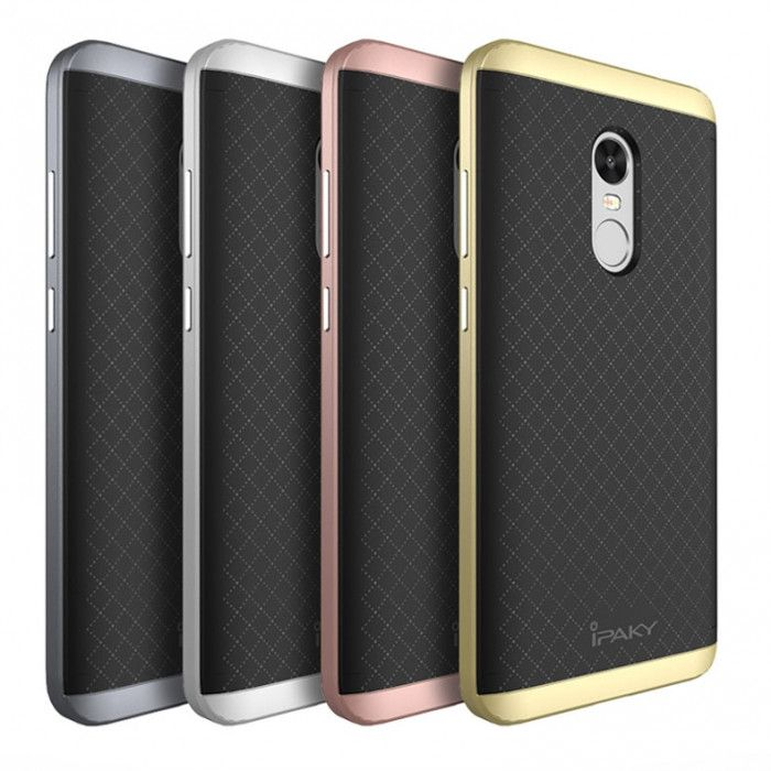 IPAKY Hybrid Case PC Frame With Silicone Protective Cover Case For Xiaomi Redmi Note 4/4X