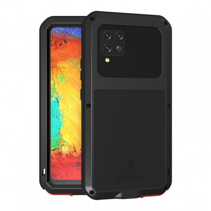 Love Mei Dust Proof Shock Proof Metal Powerful Protective Case For Samsung GALAXY A42