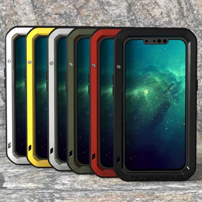 Love Mei Dustproof & Shockproof Metal Powerful Protective Case For iPhone 13 Pro