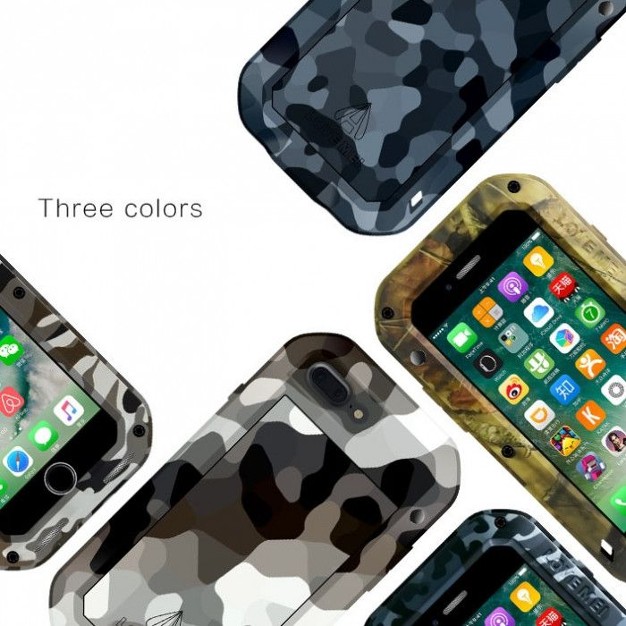 Love Mei Camouflage Series Snow Proof & Shock Proof Powerful Protective Case For iPhone 7/7 Plus