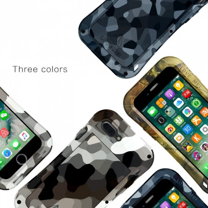 Love Mei Camouflage Small Waist Version Snow Proof & Shock Proof Powerful Protective Case For iPhone 7/7 Plus