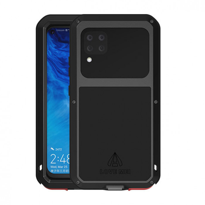 Love Mei Dust Proof Shock Proof Metal Powerful Protective Case For HUAWEI P40 Lite