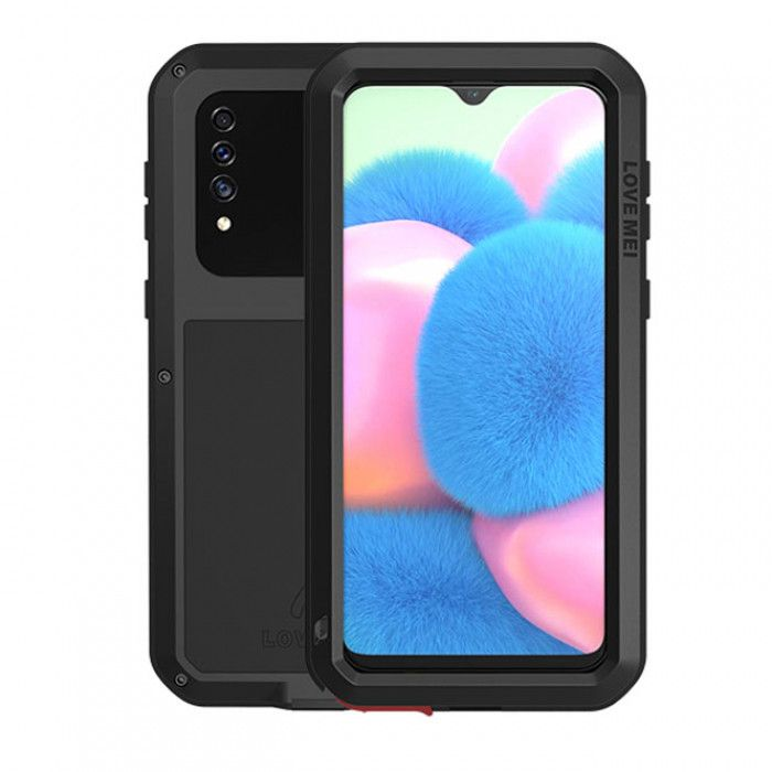 Love Mei Dust Proof Shock Proof Metal Powerful Protective Case For Samsung GALAXY A30s