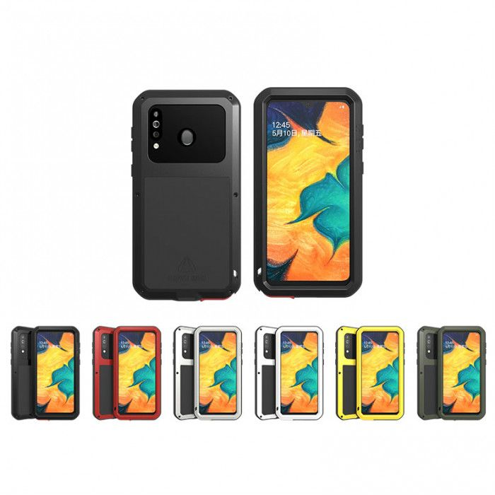 Love Mei Dust Proof Shock Proof Metal Powerful Protective Case For Samsung GALAXY A40s
