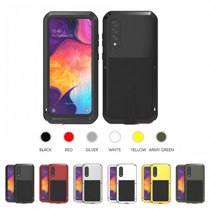 Love Mei Dust Proof Shock Proof Metal Powerful Protective Case For Samsung GALAXY A50
