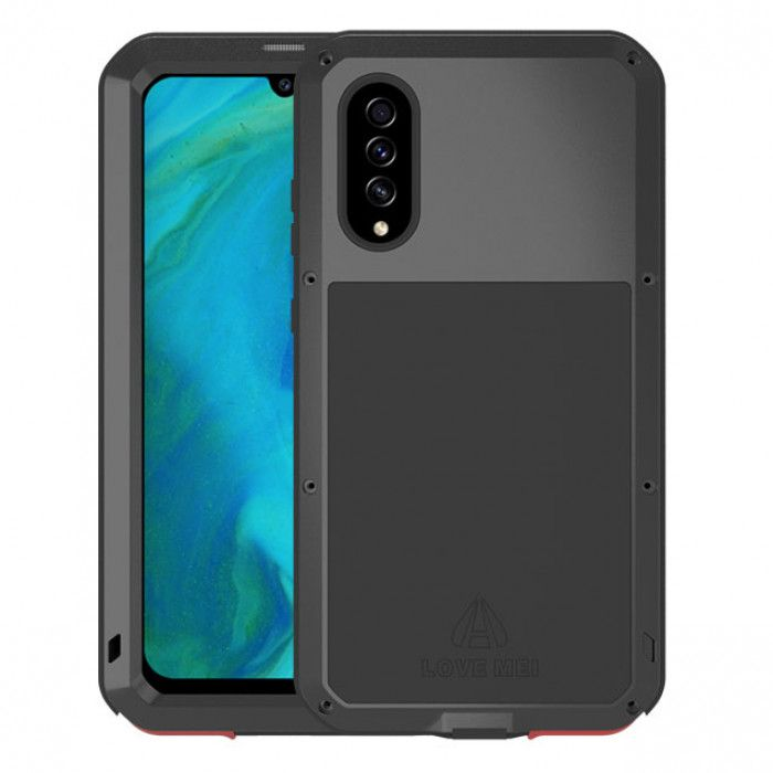 Love Mei Dust Proof Shock Proof Metal Powerful Protective Case For Samsung GALAXY A70s