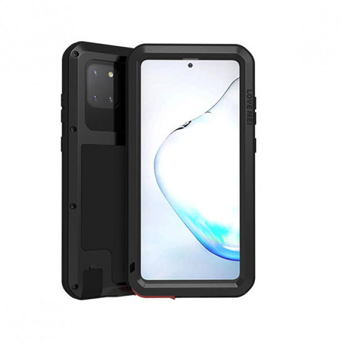 Love Mei Dust Proof Shock Proof Metal Powerful Protective Case For Samsung GALAXY Note 10 Lite
