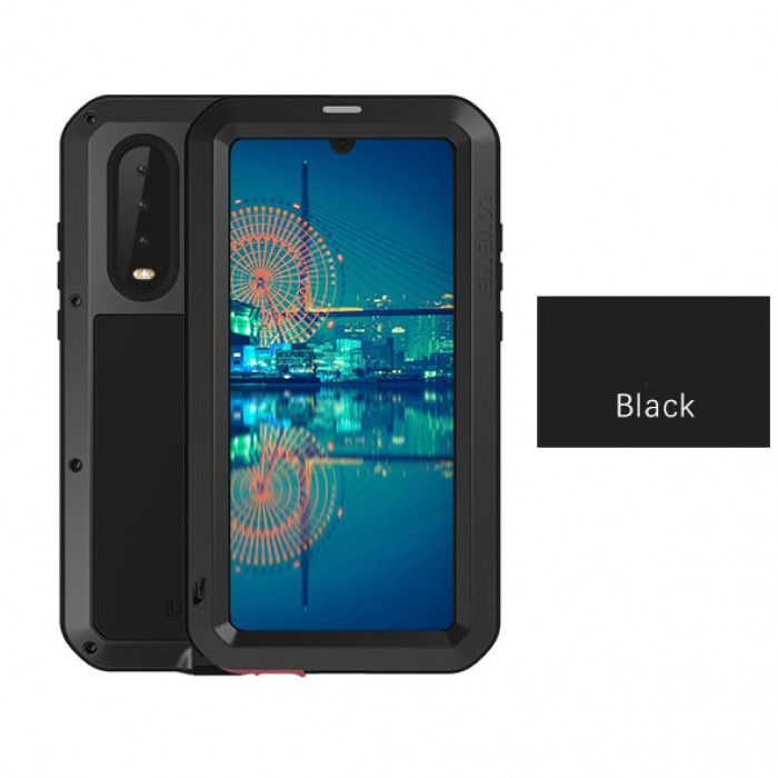 Love Mei Dustproof Shockproof Aluminum Alloy Metal Powerful Protective Case For Huawei P30