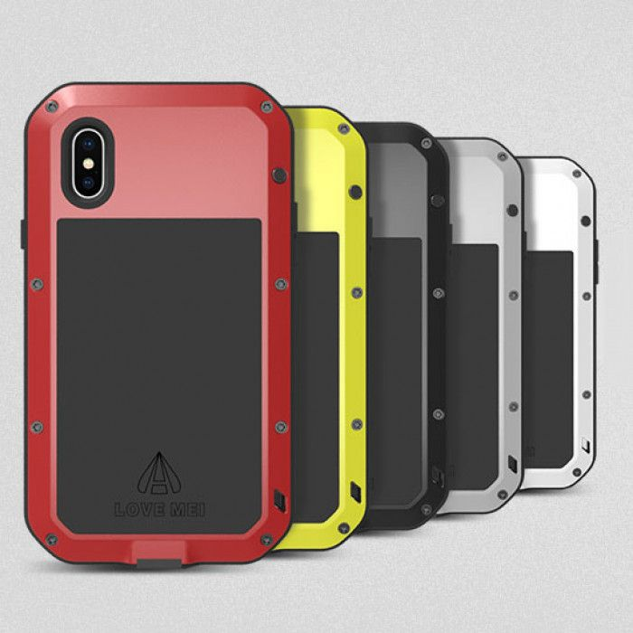 Love Mei Dustproof & Shockproof Metal Powerful Protective Case For iPhone X/Xs