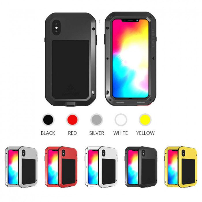 Love Mei Dustproof & Shockproof Metal Powerful Protective Case For iPhone Xs Max