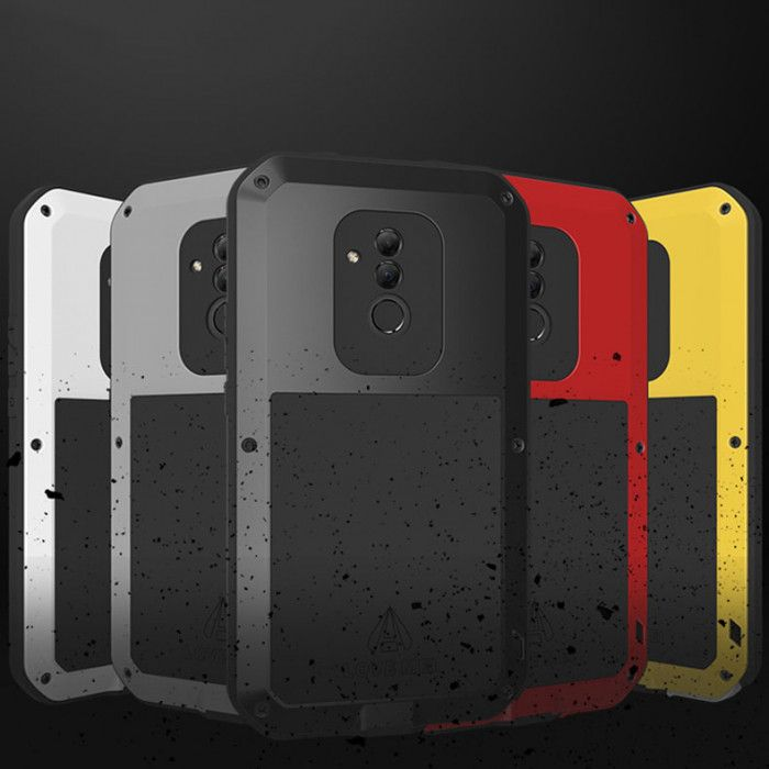 Love Mei Life Proof & Shock Proof Aluminum Alloy Metal Powerful Protective Case For Huawei Mate 20 Lite