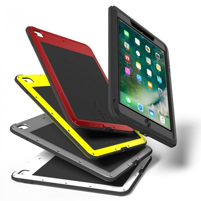 Love Mei Shock Proof Aluminum Alloy Metal Powerful Protective Case For 9.7-inch iPad 2017