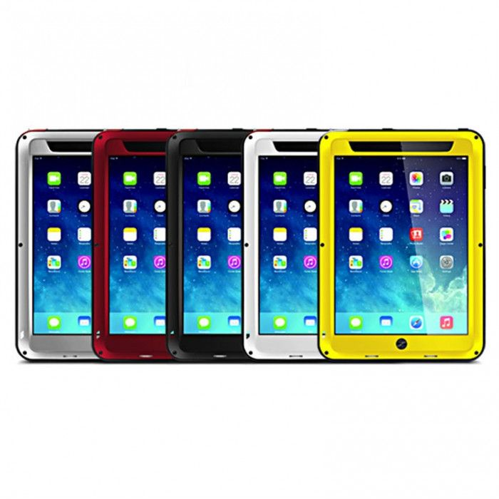 Love Mei Shock Proof Aluminum Alloy Metal Powerful Protective Case For IPAD 2/3/4