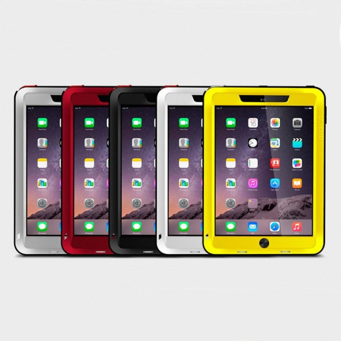 Love Mei Shock Proof Aluminum Alloy Metal Powerful Protective Case For IPAD Air 2