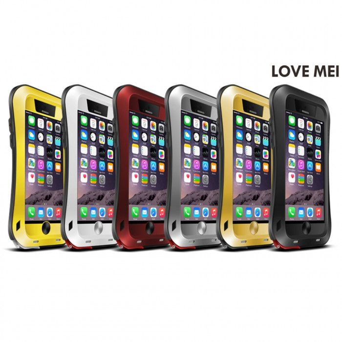 Love Mei Small Waist Version Dirt Proof & Shock Proof Powerful Protective Case For iPhone 6
