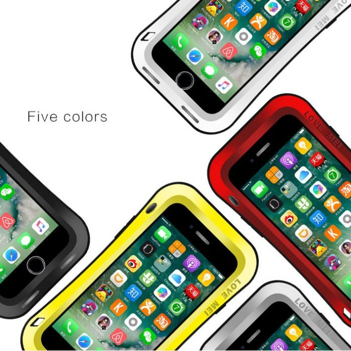 Love Mei Small Waist Version Snow Proof & Shock Proof Powerful Protective Case For iPhone 7 Plus