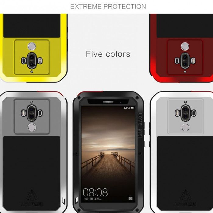 Love Mei Snow Proof & Shock Proof Aluminum Alloy Metal Powerful Protective Case For Huawei Mate 9