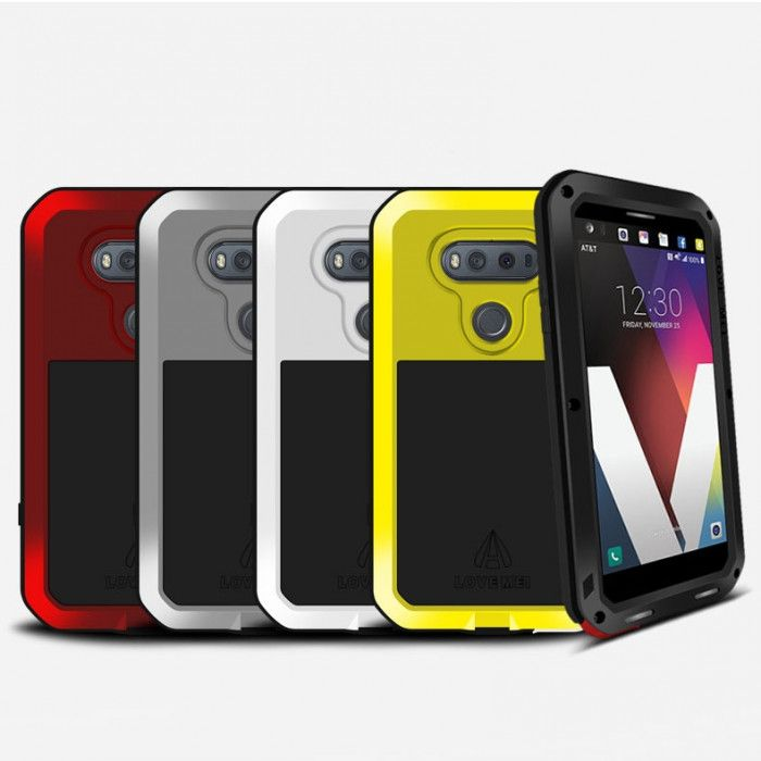 Love Mei Snow Proof & Shock Proof Aluminum Alloy Metal Powerful Protective Case For LG V20