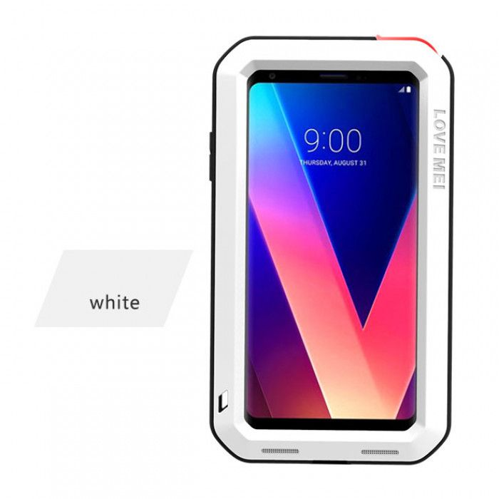 Love Mei Snow Proof & Shock Proof Aluminum Alloy Metal Powerful Protective Case For LG V30+/V35 ThinQ