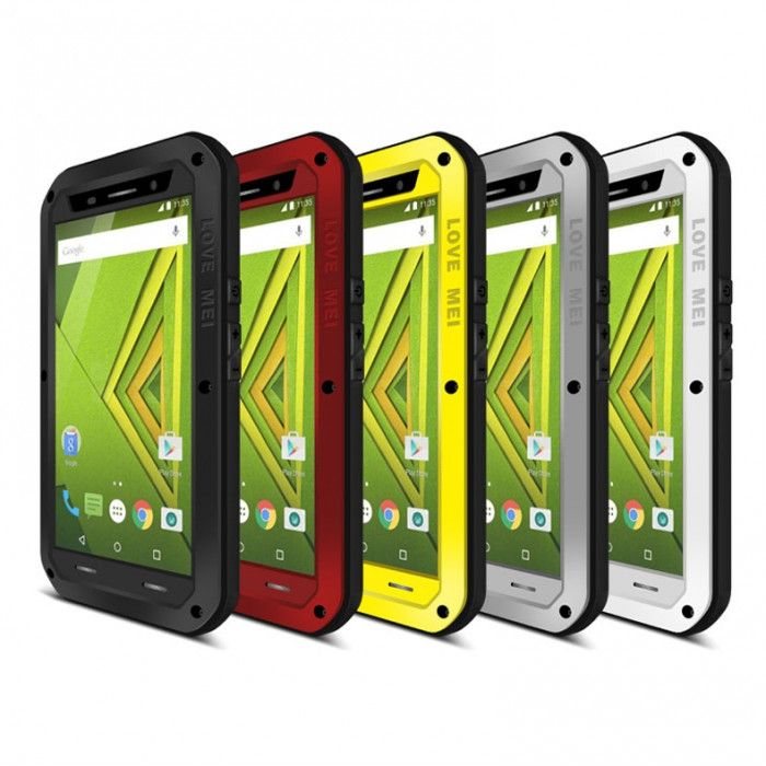 Love Mei Snow Proof & Shock Proof Aluminum Alloy Metal Powerful Protective Case For Motorola X Play