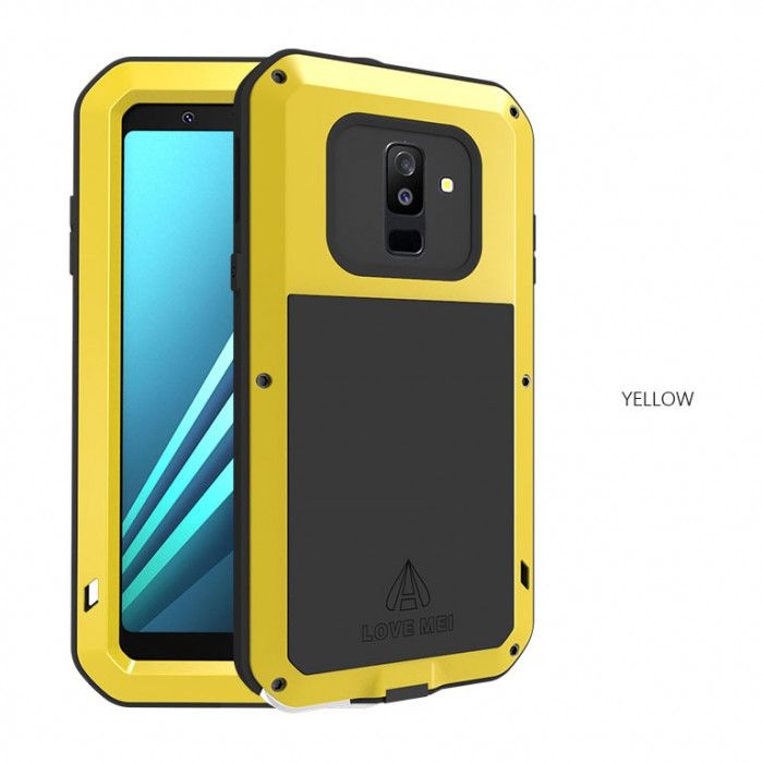 Love Mei Snow Proof & Shock Proof Aluminum Alloy Metal Powerful Protective Case For Samsung GALAXY A6/A6+(2018)