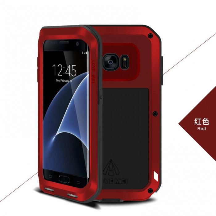 Love Mei Snow Proof & Shock Proof Aluminum Alloy Metal Powerful Protective Case For Samsung GALAXY S7 Edge