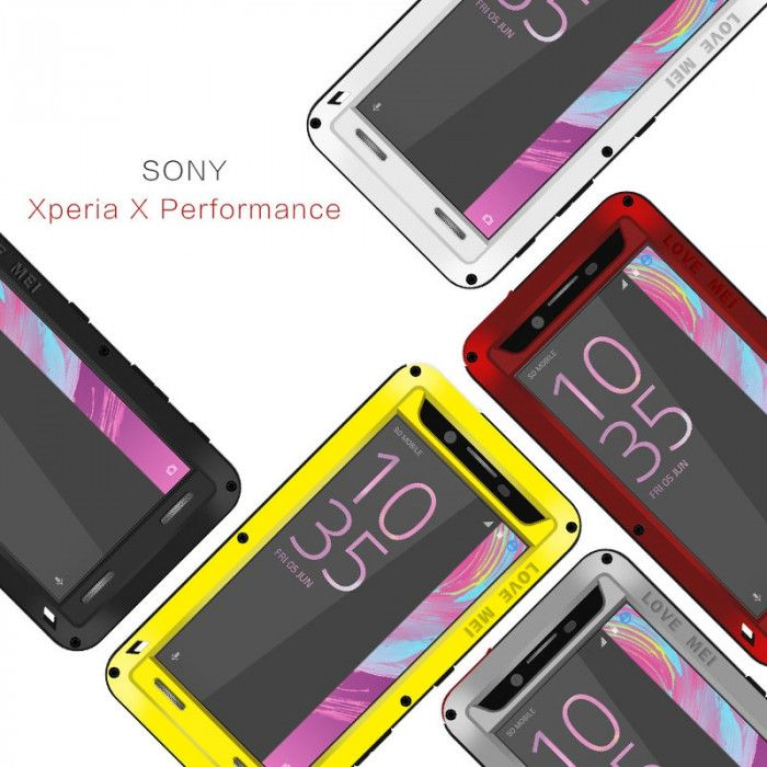 Love Mei Snow Proof & Shock Proof Aluminum Alloy Metal Powerful Protective Case For SONY Xperia X Performance