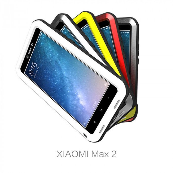 Love Mei Snow Proof & Shock Proof Aluminum Alloy Metal Powerful Protective Case For Xiaomi Mi Max 2