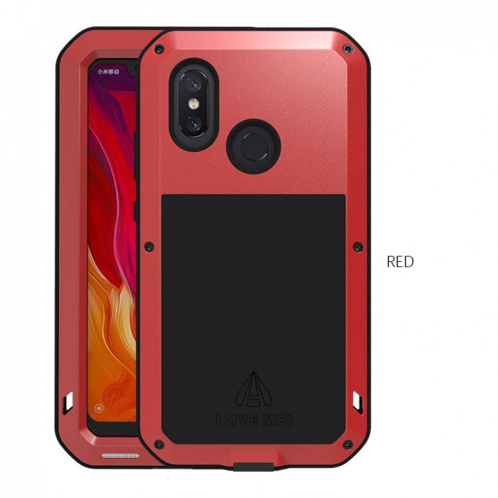 Love Mei Snow Proof & Shock Proof Metal Powerful Protective Case For Xiaomi Mi8