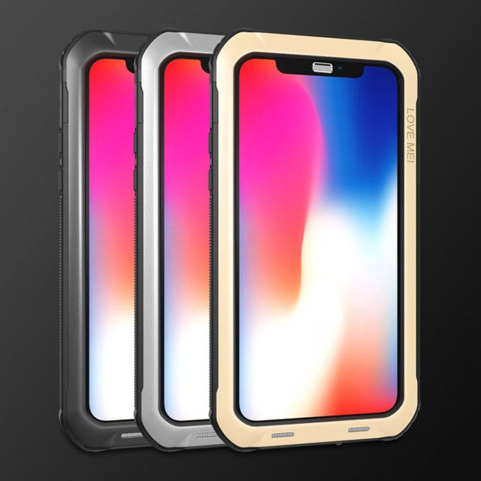 Love Mei Ultra Thin Dustproof & Shockproof All Round Protection Protective Case For iPhone X/XS