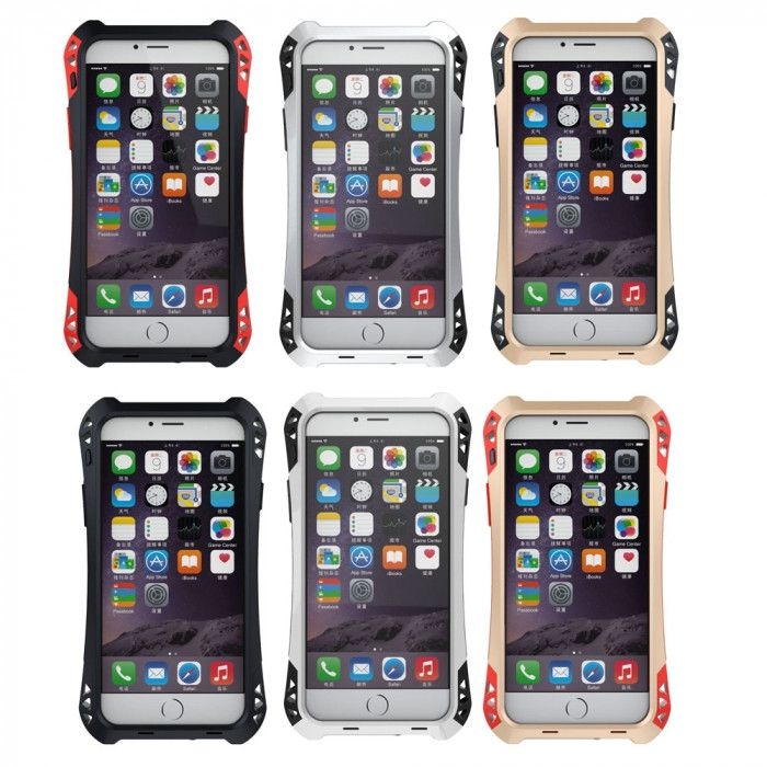R-Just AMIRA Series Dirt Proof & Shock Proof Powerful Metal & Silicone Protective Case For iPhone 6/6S
