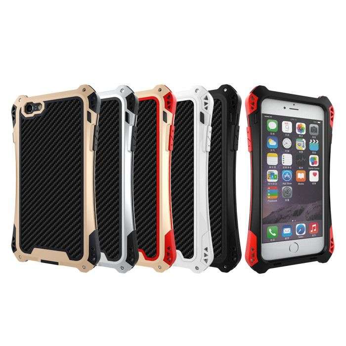 R-Just AMIRA Series Dirt Proof & Shock Proof Powerful Metal & Silicone Protective Case For iPhone 6 Plus/6S Plus