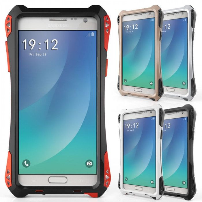 R-Just AMIRA Series Dirt Proof & Shock Proof Powerful Metal & Silicone Protective Case For Samsung Note 5
