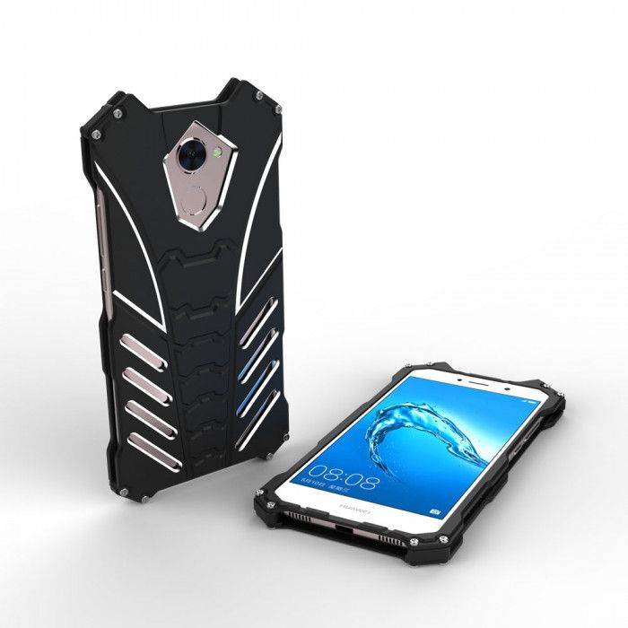 R-Just Batman Series Shockproof Aluminum Alloy Metal Protective Case For Huawei Enjoy 7 Plus