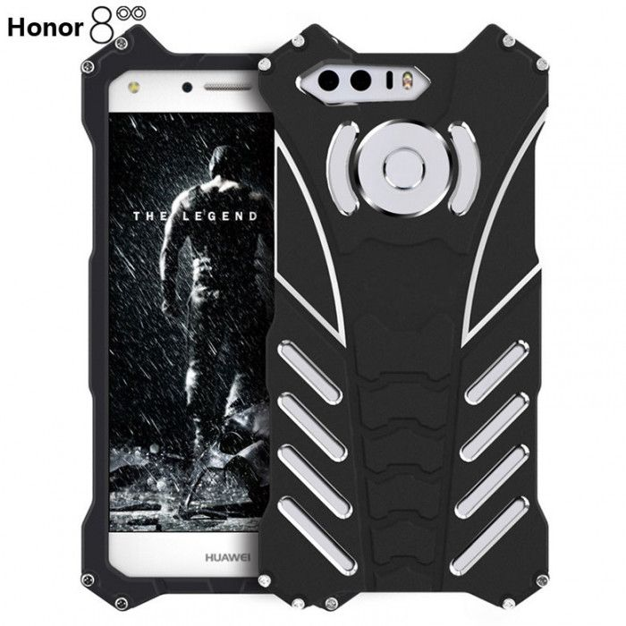 R-Just Shockproof Aluminum Alloy Metal Protective Case For Huawei Honor 8/V8
