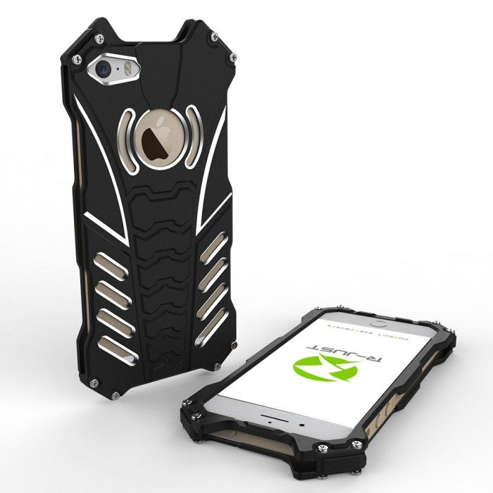 R-Just Batman Series Shockproof Aluminum Alloy Metal Protective Case For iPhone 5/5s/5c/SE