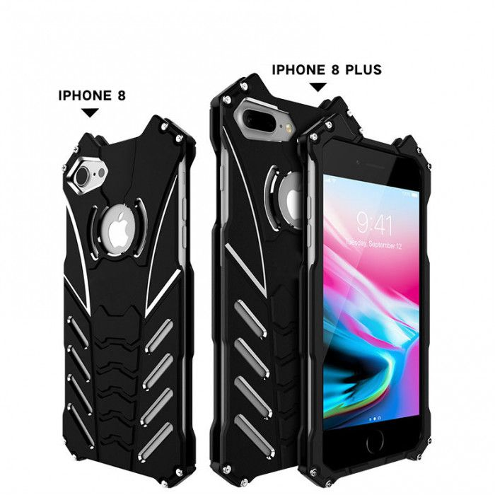 R-Just Shockproof Aluminum Alloy Metal Protective Case For iPhone 8/8 Plus