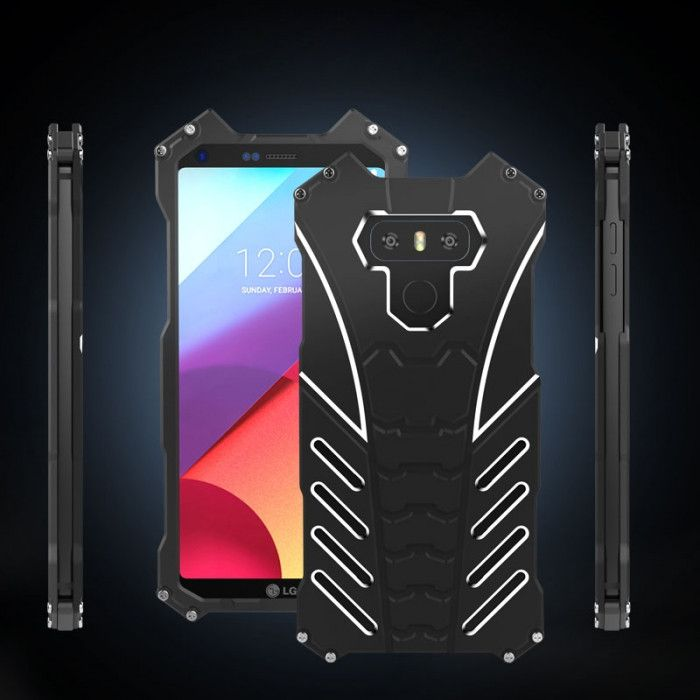 R-Just Batman Series Shockproof Aluminum Alloy Metal Protective Case For LG G6