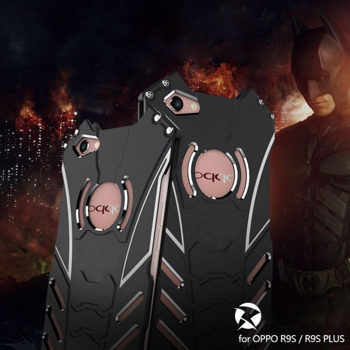 R-Just Batman Series Shockproof Aluminum Alloy Metal Protective Case For OPPO R9S/R9S Plus