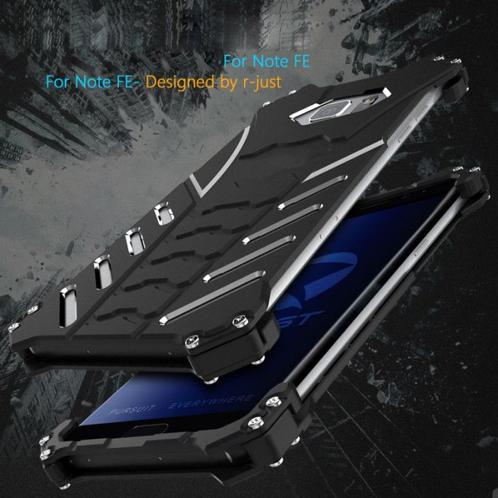 R-Just Shockproof Aluminum Alloy Metal Protective Case For Samsung Galaxy Note FE