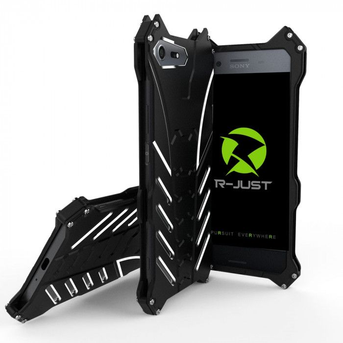 R-Just Batman Series Shockproof Aluminum Alloy Metal Protective Case For Sony XZ Premium
