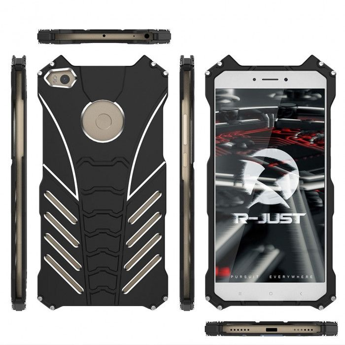 R-Just Batman Series Shockproof Aluminum Alloy Metal Protective Case For Xiaomi Mi Max 2