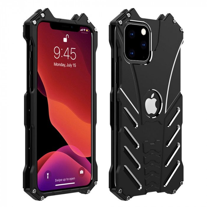 R-Just Classic Shockproof Aluminum Alloy Metal Protective Case For iPhone 11 5.8 iPhone 11 6.1 iPhone 11 6.5